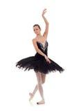 Bailarina que desgasta o tutu preto imagem de stock