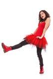 Bailarina que levanta com o pé levantado fotografia de stock royalty free