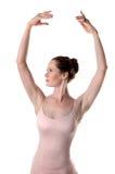 Bailarina que levanta las manos Fotos de archivo