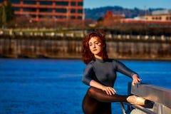 Bailarina urbana imagem de stock royalty free