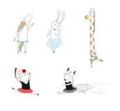 Bailarinas animales lindas libre illustration