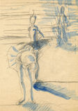 Bailarinas, drenando 12 Imagen de archivo