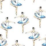 Bailarinas inconsútiles del modelo Imágenes de archivo libres de regalías