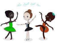 Bailarinas pequenas bonitos ilustração do vetor