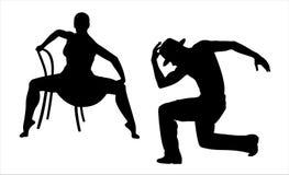 Bailarines stock de ilustración