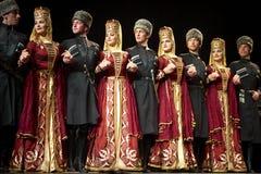 Bailarines académicos del conjunto de la danza de Kabardinka Imagen de archivo libre de regalías