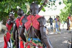 Bailarines africanos Fotos de archivo libres de regalías