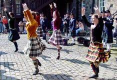 Bailarines canadienses en la franja Fotografía de archivo libre de regalías