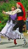 Bailarines catalanes tradicionales Imagenes de archivo