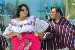 Bailarines chilenos Imágenes de archivo libres de regalías