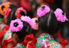 Bailarines chinos imagenes de archivo