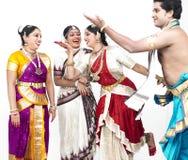 Bailarines clásicos indios Imágenes de archivo libres de regalías