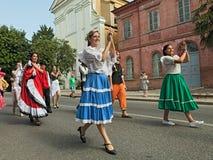 Bailarines de Argentina Imagenes de archivo