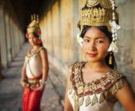 Bailarines de Aspara Fotografía de archivo libre de regalías