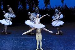 Bailarines de ballet del lago swan Imagen de archivo