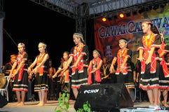 Bailarines de Bidayuh Fotos de archivo libres de regalías