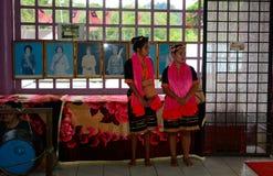 Bailarines de Bidayuh, Mongkos, Borneo, Sarawak, Malasia Fotos de archivo libres de regalías