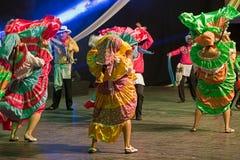 Bailarines de Costa Rica en traje tradicional Fotos de archivo libres de regalías