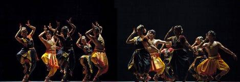 Bailarines de Kalakshetra del indio Fotografía de archivo libre de regalías