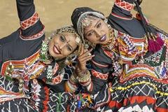Bailarines de Kalbelia Imágenes de archivo libres de regalías