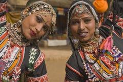 Bailarines de Kalbelia de Rajasthán Imagen de archivo