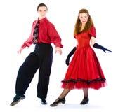 Bailarines de la Boogie-voogie Imagen de archivo libre de regalías