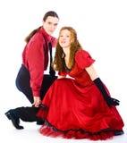 Bailarines de la Boogie-voogie Foto de archivo libre de regalías