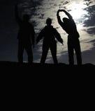 Bailarines de la luna azul Imagen de archivo libre de regalías