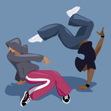 Bailarines de la rotura ilustración del vector