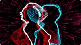 Bailarines de neón stock de ilustración