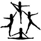 Bailarines de sexo femenino Imagenes de archivo