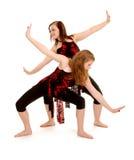 Bailarines de sexo femenino contemporáneos Jazz Duet Fotos de archivo