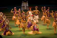 Bailarines de Tahitian fotos de archivo libres de regalías