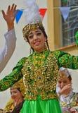 Bailarines de Uzbekistán Imagen de archivo libre de regalías