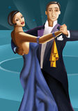 Bailarines del art déco ilustración del vector