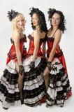 Bailarines del cancán Imagenes de archivo