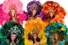 Bailarines del carnaval fotografía de archivo libre de regalías