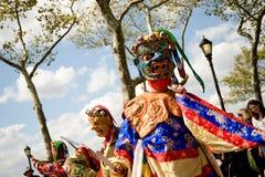 Bailarines del Cham fotografía de archivo libre de regalías