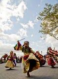 Bailarines del Cham Foto de archivo