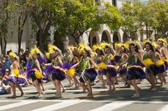 Bailarines del desfile del solsticio Imagen de archivo