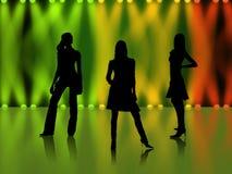 Bailarines del disco imágenes de archivo libres de regalías