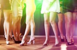 Bailarines del disco Foto de archivo