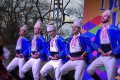 Bailarines del folclore Foto de archivo