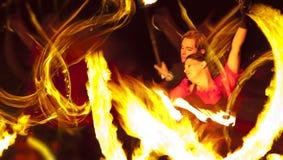 Bailarines del fuego Foto de archivo libre de regalías