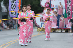 Bailarines del geisha Fotografía de archivo
