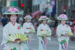 Bailarines del geisha Imagen de archivo libre de regalías