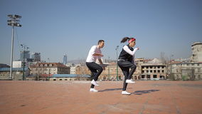 Bailarines del hip-hop almacen de metraje de vídeo