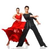 Bailarines del Latino de la elegancia en la acción Foto de archivo libre de regalías