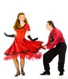 Bailarines del oscilación Foto de archivo libre de regalías