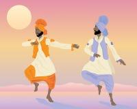Bailarines del Punjabi Imagenes de archivo